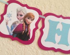 Frozen Birthday banner, frozen happy birthday banner, frozen birthday banner, frozen banner
