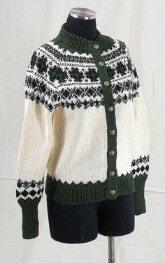 Womens Vintage Hand Knit Wool blend Cardigan size Small to Medium. , via Etsy.