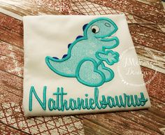 Dinosaur Custom Tee Shirt - Customizable -  Infant to Adult 60 by JMehargDesigns on Etsy