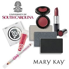 We're rocking black and garnet at the University of South Carolina for the Fall Into Your Beauty Tour! Get the USC look with these Mary Kay colors. #MKFallBeauty