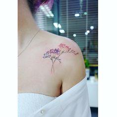 "7,556 Likes, 23 Comments - Tattooist Banul (@tattooist_banul) on Instagram: "": Freesia ✨ . . #tattooistbanul #tattoo #tattooing #freesia #freesiatattoo #flowertattoo #flower…"""