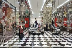 Gwyneth Paltrow unveiled the Prada windows for Printemps Christmas 2013