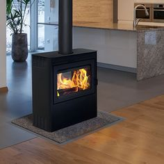 Supreme Vision See-Through Wood Stove - Metallic Black