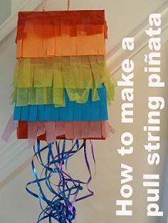 How to make a kids pull string pinata for a rainbow party