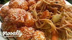 Kínai omlós szezámmagos csirke, zöldséges pirított tésztával   Nosalty Healthy Life, Healthy Eating, Indian Food Recipes, Ethnic Recipes, Cooking Recipes, Healthy Recipes, Winter Food, Chinese Food, Food Videos