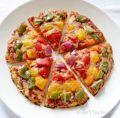 Cauliflower Crust Pizza - diettaste.com