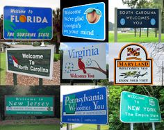 "Road trip across the USA & visit all 50 states - with pictures at each ""welcome to"" sign!"