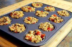 Bocados de quinoa tipo pizza | Recetas para adelgazar