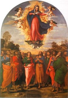 Palma il vecchio: Assunzione della Vergine 1512 #DonneEAngeli #art #painting #Artist  @alecoscino @MariaSuu @MP27_