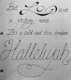"""Hallelujah"" lyrics - January 2017"