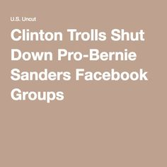 Apr 26, 2016 - The groups were targeted by online trolls, who posted pornographic images and reported the groups to Facebook admins. Some legitimate Bernie supporters even reported seeing images containing pedophilia, according to reporting from Heavy.com.