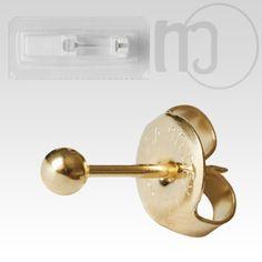 Erstohrstecker vergoldet Sterile Ohrstecker Kugel 3mm