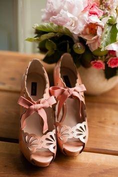Love these shoes! Laurel Crowned: Peach Orchard Shoot: Wedding inspiration by Eminence Photography