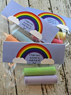 Sidewalk Chalk End of School Year Student Gift Idea & Free Printable - My Sweet Sanity