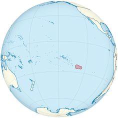 Pitcairn Islands on the globe (French Polynesia centered) ◆Îles Pitcairn — Wikipédia http://fr.wikipedia.org/wiki/%C3%8Eles_Pitcairn #Pitcairn_Islands