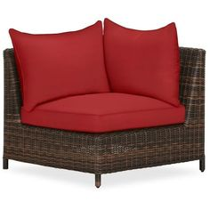 Pottery Barn Torrey Sectional Corner Cushion Slipcover (325 AUD) ❤ liked on Polyvore featuring home, outdoors, patio furniture, red, slip cover sectional, pottery barn, outdoors patio furniture, red outdoor furniture and woven patio furniture