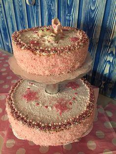 #babyshower #girl #cake #pink