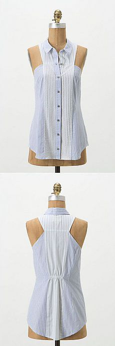 Great idea for refashioned mans shirt