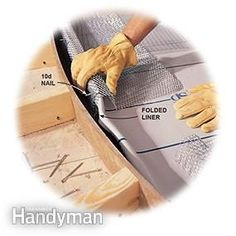 Build the shower pan curb with pre-bent lath.