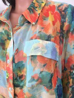 Lane Bryant Plus Size Women 18/20 Shirt Blouse Water colors Designer Fashion | eBay