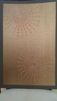 """This is the """"Bamboo Weave"""" board. Beautiful for a living room or bedroom. Painted by: Faux Finesse. #decorativepainting #strie #stencils #glitter #embossed #fauxfinesse #blingywalls #glitsywalls"""