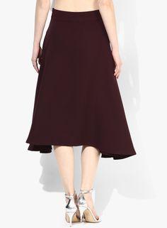 Buy Alia Bhatt For Jabong Knee Length Wine Skirt for Women Online India, Best Prices, Reviews | AL635WA95OJOINDFAS