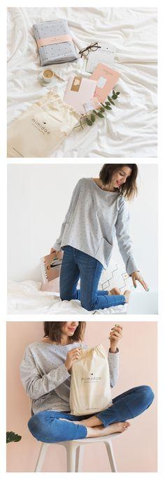 KIT | DIY .  Para mujer. Contiene todos los materiales necesarios para confeccionar una bonita camiseta. Tallas: de la S a la XL._______________________ SEWING KIT for woman tee.