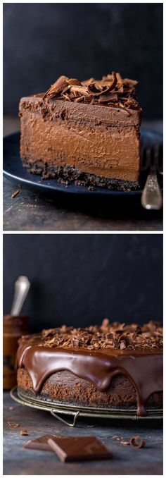 Ultimate Chocolate Cheesecake – The Best Chocolate Cheesecake Recipe Rich, creamy, and supremely flavorful, this is the ULTIMATE Chocolate Cheesecake! It's so easy to make and freezer friendly! No Bake Desserts, Just Desserts, Delicious Desserts, Dessert Recipes, Awesome Desserts, Easy To Make Desserts, Crepe Recipes, Health Desserts, Sweet Desserts