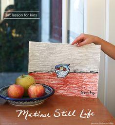 matisse art lesson for kids - still life *love