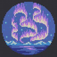 Perler Bead Templates, Perler Patterns, Loom Patterns, Beading Patterns, Cross Stitch Art, Cross Stitch Designs, Cross Stitching, Cross Stitch Patterns, Embroidery Art