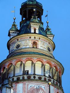 Český Krumlov Castle Tower, Czech Republic