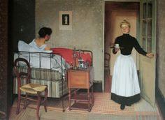 FRENCH PAINTERS: Felix VALLOTON The Patient 1892