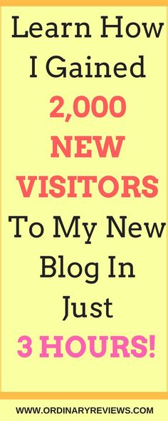 Learn how I gained 2,000 visitors to my new blog in just 3 hours!
