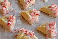 Candy Cane Cheesecake Hamantaschen 32 Crazy Hamantaschen For Purim Mishloach Manos, Purim Recipe, Chocolate Drip, Kosher Recipes, Jewish Recipes, Dessert Recipes, Desserts, Cookies Et Biscuits, Peppermint