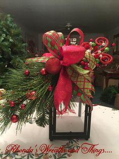 Botín de Navidad de la linterna por RhondasWreaths en Etsy