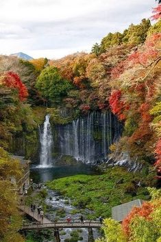 Shiraito Falls in Fujinomiya, Shizuoka Prefecture, near Mount Fuji, Japan. 白糸の滝 by clearstyle Places Around The World, Oh The Places You'll Go, Places To Travel, Places To Visit, Around The Worlds, Travel Destinations, Beautiful Waterfalls, Beautiful Landscapes, Beautiful World