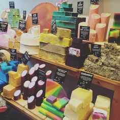 Have you ever seen soap like this?? LUSH cosmetics @Den Bosch