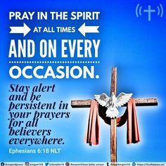 Pray in the Spirit at all times and on every occasion. Stay alert and be persistent in your prayers for all believers everywhere. Ephesians 6:18 NLT Praying In The Spirit, Best Bible Verses, Spiritual Needs, Ephesians 6, Prayers, Spirituality, Prayer, Spiritual, Beans