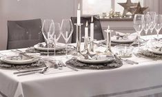Montar la mesa de Navidad - Foto 3 Table Settings, Christmas Tabletop, Mesas, Place Settings