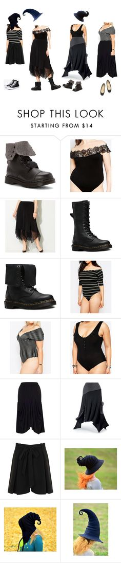 """Summery Witchy Comfiness"" by vic-mazonas ❤ liked on Polyvore featuring Dr. Martens, Boohoo, Avenue, Pink Clove, Missguided, Chesca, Elvi, Christian Louboutin and Converse"