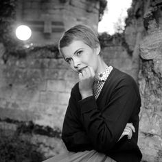 Jean Seberg on the set of La récreation directed by Fabien Collin and François Moreuil, 1961