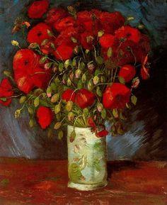 Vase with Poppies, Van Gogh