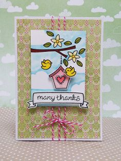Lawn Fawn - Home Sweet Home _ absolutely adorable card by fifi100479 | Flickr - Photo Sharing!
