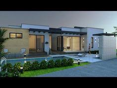 Casa moderna de un piso y tres dormitorios - YouTube