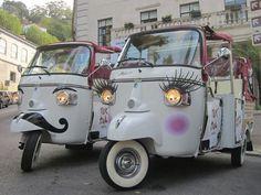 tuk tuk - Sintra - Portugal Scooters Vespa, Vespa Ape, Moped Scooter, Prosecco Van, Food Cart Design, Lambretta, Piaggio Ape, Mobile Boutique, Mobiles