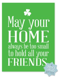 Irish Blessings Free Printables from Tried & True - Just in time for St. Patrick's Day!