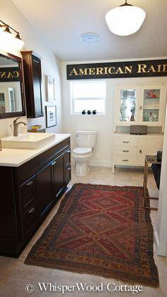 WhisperWood Cottage: Before & After: Eclectic Master Bath Renovation/Makeover