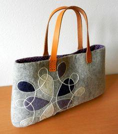 felt bag/cool & gray-blue