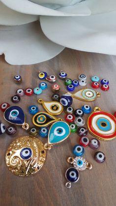 Dainty evil eye bracelet. Evil eye by AllAboutEveCreations on Etsy