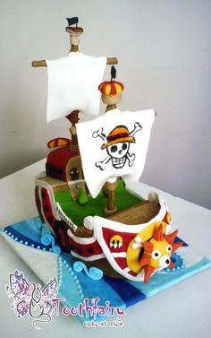 """one piece-Thousand Sunny ship"" cake"